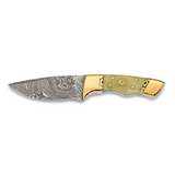 By Jere Blade Camel Bone Handle Hunting Knife Damascus Steel 256 Layer Fixed, MPN:  KN31340, UPC: 191101679971