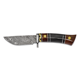 By Jere Blade Tali Wood Buffalo Horn Handle Knife Damascus Steel 256 Layer Fixed, MPN:  KN53440, UPC: 191101680137