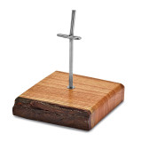 By Jere 1 Knife Square Dhraik Wood Display Stand Luxury Knives, MPN:  KNDISP1, UPC: 191101680182