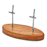 By Jere 2 Knife Oval Dhraik Wood Display Stand Luxury Knives, MPN:  KNDISP2, UPC: 191101680199