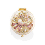 Jay Strongwater Angela Round Floral Compact Great Gifts MPN: SCB8076-281