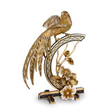Jay Strongwater Amadine Golden Pheasant Figurine - Jet Crystal luxe MPN: SDH1881-270