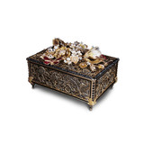 Jay Strongwater Genevieve Grand Floral Chest -Box Jet Crystal luxe MPN: SDH7346-269