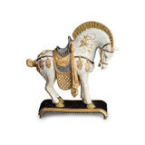 Jay Strongwater Braque Dynasty Horse Figurine - Jet Crystal luxe MPN: SDH1882-270