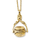 2007 Boutique Jewelry Fashion 3 Locket 30 Inch Necklace Gold-tone BF1771