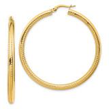 Leslie's Fancy Hoop Earrings 14k Gold MPN: LE1848