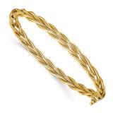 Leslie's Weaved Hinged Bangle 14k Polished Gold MPN: LF1285