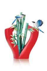 Franz Porcelain High and Higher Bamboo Porcelain Vase MPN: FZ03691