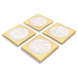 Anna by Rablabs Circulo Coasters Biano Venato Brass Set of Four, MPN: CIR-COS4-27G UPC: 810345029105