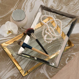 Annieglass Roman Antique Gold 12 x 8 Inch Vanity Tray , MPN: P236