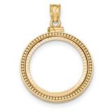 Beaded Diamond-cut Screw Top 1/4P Bezel 14k Gold MPN: BA81YD/4P