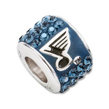 St. Louis Blues Premier Crystal Bead Charm Sterling Silver, MPN: BLE070CHM-SS, UPC: 191101036118