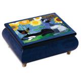 Artist Rosina Wachmeister Blue Cat Music Box MPN: GM10356