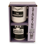 Our Name Is Mud Mug Set Stack Management, MPN: GM16651, UPC: 455448342098