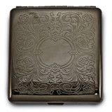 Floral Etched (Holds Pack Kings) Cigarette/Card Case Brass-tone MPN: GM16889