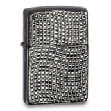 Zippo Cross Wave Ridge High Polish Black Chrome Armor Lighter, MPN: GM17853, UPC: 41689285449