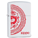 Zippo Zippo Dragon Stamp White Matte Lighter, MPN: GM17870, UPC: 41689288556