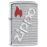 Zippo Armor High Polish Chrome Epoxy Flame Lighter, MPN: GM17874, UPC: 41689209919