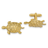 2221 Boutique Jewelry Fashion Textured Turtle Cufflinks Gold-tone BF2707