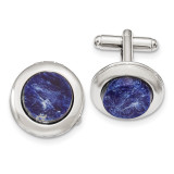 2256 Boutique Jewelry Fashion Sodalite Locket Cufflinks Silver-tone BF2754