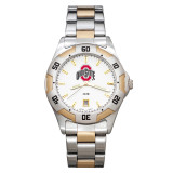 Ohio State University All-Pro Men's Two-Tone Watch with Bracelet, MPN: OSU153, UPC: 634401371836