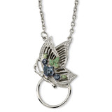 2264 Boutique Jewelry Fashion Butterfly Enameled Flower Eyeglass Holder 28 Necklace Silver-tone BF592