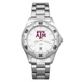Texas A&M University All-Pro Men's Chrome Watch with Bracelet, MPN: TAM163, UPC: 634401059444