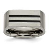 10mm Black Enamel Stripes Brushed Band Titanium, MPN: TB250, UPC: 886774049441