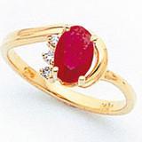 7x5mm Oval Ruby Aa Diamond Ring 14k Gold, MPN: X6088R_AA, UPC: 883957490977