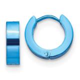 Chisel Blue IP-Plated Hinged Hoop Earrings Stainless Steel, MPN: SRE1314, UPC: 191101499333