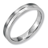 Chisel 4mm Brushed & Polished Band - Stainless Steel SR144