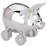 Reed and Barton Piggy With Wheels Bank, MPN: 640, UPC: 735092199270