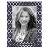 Reed and Barton Navy 5 x 7 Inch Kasbah Picture Frame, MPN: 869734, UPC: 735092256591