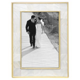 Reed and Barton Mother Pearl Gold Picture Frame 5 x 7 Inch, MPN: 871646, UPC: 735092257055