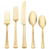 Reed and Barton Baguette Gold Flatware 5 Piece Place Setting, MPN: 869646, UPC: 735092255822