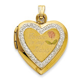 10KT Two-Tone Polished Forever in my Heart Locket Charm MPN: 1CBEL18748 UPC: 886774168623