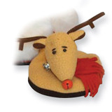 Plush Reindeer Slipper Attachable Coasters MPN: GM3516 UPC: 898034001922