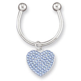 Light Blue Swarovski Crystal Key Ring MPN: GM4822 UPC: 788089050207
