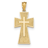 Textured Cross Pendant 14k Gold Polished MPN: K5494 UPC: 191101531705