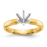 1-2ct. Heavy-Wt Comfort-Fit 6-Prong Ring Mounting 14k Two-tone Gold MPN: KS62-1/2 UPC: 883957395708