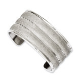 Chisel Laser Cut Cuff Bangle - Stainless Steel SRB1000