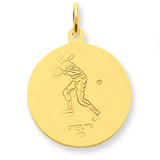 24k Gold-plated St. Christopher Baseball Medal Sterling Silver MPN: QC5637 UPC: