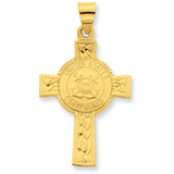24k Gold-plated Coast Guard Cross Pendant Sterling Silver MPN: QC5653 UPC:
