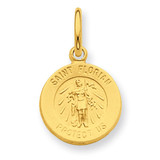 24k Gold-plated Saint Florian Medal Sterling Silver MPN: QC5666 UPC:
