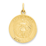 24k Gold-plated Saint Florian Medal Sterling Silver MPN: QC5667 UPC: