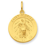 24k Gold-plated Saint Florian Medal Sterling Silver MPN: QC5668 UPC: