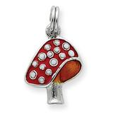 Enamel Mushroom Charm Sterling Silver MPN: QC6047 UPC: 13154700
