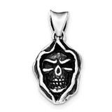 Antiqued Skull Pendant Sterling Silver MPN: QC8974 UPC: 191101528002