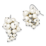 4-5-5-7-7-8mm FW Cultured Pearl Dangle Earrings Sterling Silver MPN: QE12785 UPC: