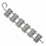Chisel with 0.75 Inch Extension Antiqued Bracelet - Stainless Steel SRB1227